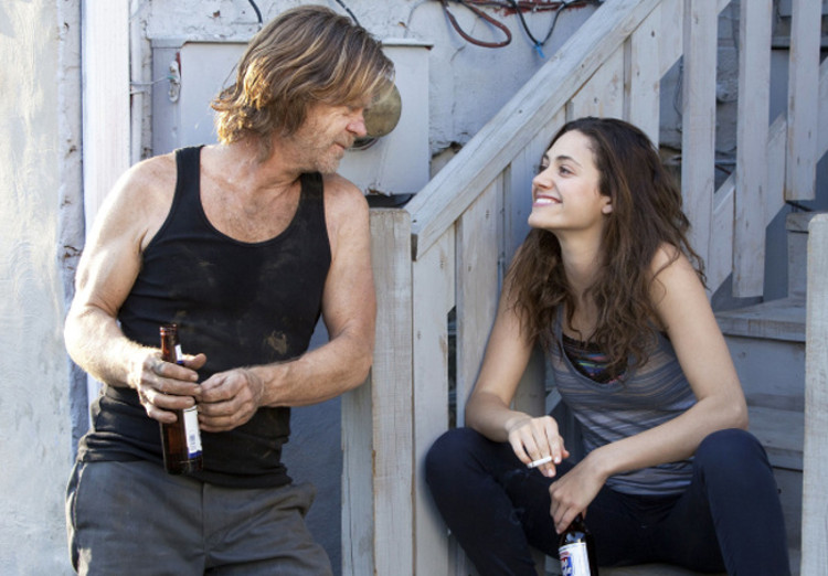 Emmy Rossum es la hija de William H. Macy en 'Shameless'
